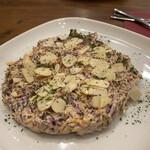 北の国バル - コンビーフと紫キャベツとナッツのコールスローサラダ 400円