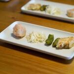 溢彩流香 - 里芋、明太、 まこも茸、 枝豆 、鮭フライ