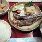 和田屋 - ランチ いわし丸干し定食