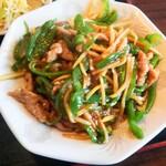中華美食館 - チンジャオロース定食のメイン