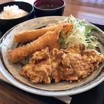 咲レストラン - *ミックス定食(¥1,045)
