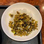 127441563 - 台湾風ラーメンセット ¥850 のミニ日替り丼(高菜ご飯)