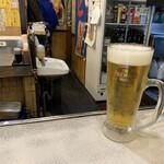 備長炭火ホルモン焼 しちりん - 生ビール