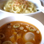 ガハハ食堂 - 海老出汁つけ麺¥750。海老の香りが濃厚です。