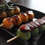 甘味茶屋 極 - 料理写真:御団子三種類