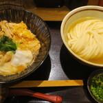 純愛うどん なでしこ 原点 - 日南鶏の炙り親子丼セット