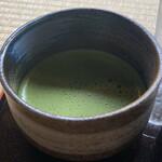 しまばら水屋敷 - 湧き水で点てた抹茶