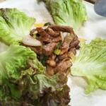昇福門 - 牛肉のオイスターソース炒め(3500円飲み放題付きコース)
