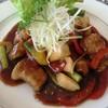 黒酢の郷 桷志田 - 料理写真:黒豚の黒酢酢豚