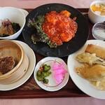 桂林 - 桂林定食(1,500円)海老のチリソース煮込み