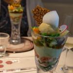 ビストロアム - 野菜のパフェ:トウモロコシのアイスクリーム