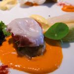 ビストロアム - 前菜:2枚とも手前が水蛸、奥が墨烏賊