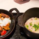 ビストロアム - 枝豆ご飯:リードヴォーのムニエル ラタトゥイユ