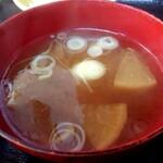 127472416 - ミニカツ丼定食のお味噌汁【Feb.2020】