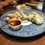 THAIFOOD DINING&BAR マイペンライ - 生春巻き( 2本セット)    980円 食べかけ