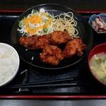 厳選島豚 しゃぶしゃぶ すきやき せいりゅう - 鶏の唐揚秘伝改・ご飯大盛(780円)