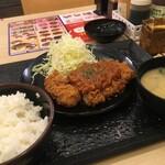 松のや - ケイジャン大判ヒレかつ定食