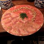127487868 - 【プラチナタンサーロインユッケ                        焼肉ランチセット ¥2.480】