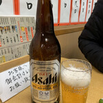 但馬屋 - 瓶ビール(大)    400円(税抜)