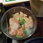 127498837 - 葱とろ丼風グラス寿司(R1.6.8撮影)