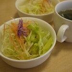 キッチン すぎの実 - セットのサラダとスープ