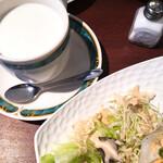 ギオン - ホットミルクにサンドセット