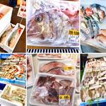 127506145 - 新鮮な魚介類