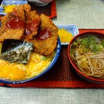 常盤 - ビフカツ丼+わんこそば900円