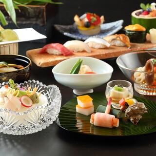 誕生日・記念日にも◎創作和食と寿司が充実した懐石コース
