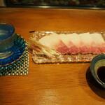 錦 - 冷酒 & 鯨ベーコン