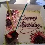 12752349 - お誕生日にはパティシェからデザートプレートサービスがあり