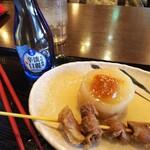 はやし家製麺所 - おでん2種+日本酒