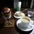 64Cafe+Ranai - 苺のトライフルとロイヤルミルクティー