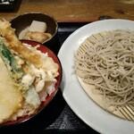 自由庵仙台 - 料理写真:ざるそばとミニ天丼のセット