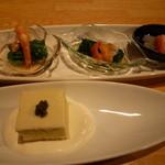 12754629 - クリームチーズ寄せ&お浸し3種