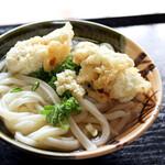 うわさの麺蔵 - かしわ天うどん(かけ+かしわ天)