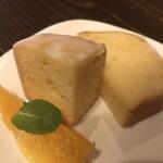 染めカフェ KIKYU - レモンパウンドケーキ オレンジを添えて