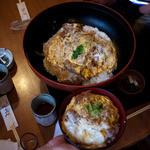 和食や 吉べえ - 和食や 吉べえ メガかつ丼と標準サイズ比較