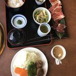 はうでい亭 - 料理写真:あみ焼きランチ1100円(税込)