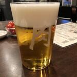 127570531 - 肉山 おおみや まずは「肉」ビールで乾杯