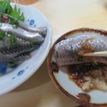 大鮨 - 鰯刺身は生姜醤油で