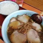 スタミナラーメン のぶちゃん - チャーシュー麺¥700+半ライス¥150