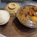 鯱市 - 豚しゃぶカレー煮込み+唐揚げハーフ+ランチご飯大