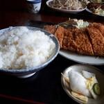 アライ - ご飯は、これで普通サイズです。ご注意下さいませ。(笑)