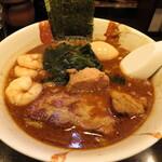 麺屋 優創 - 魚介味噌ラーメン 1000円 味玉 100円