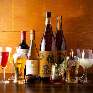 日本酒を始め豊富なドリンクメニュー