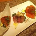 レストラン エム - ニジマス真鯛ウニ