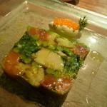 リョーモン - サクラマスのマリネと季節野菜のゼリー寄せ
