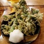 海鮮屋台 おくまん - 菜の花の天ぷら:108円