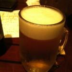 ちゅうしんの蔵 - 生ビール (580円)